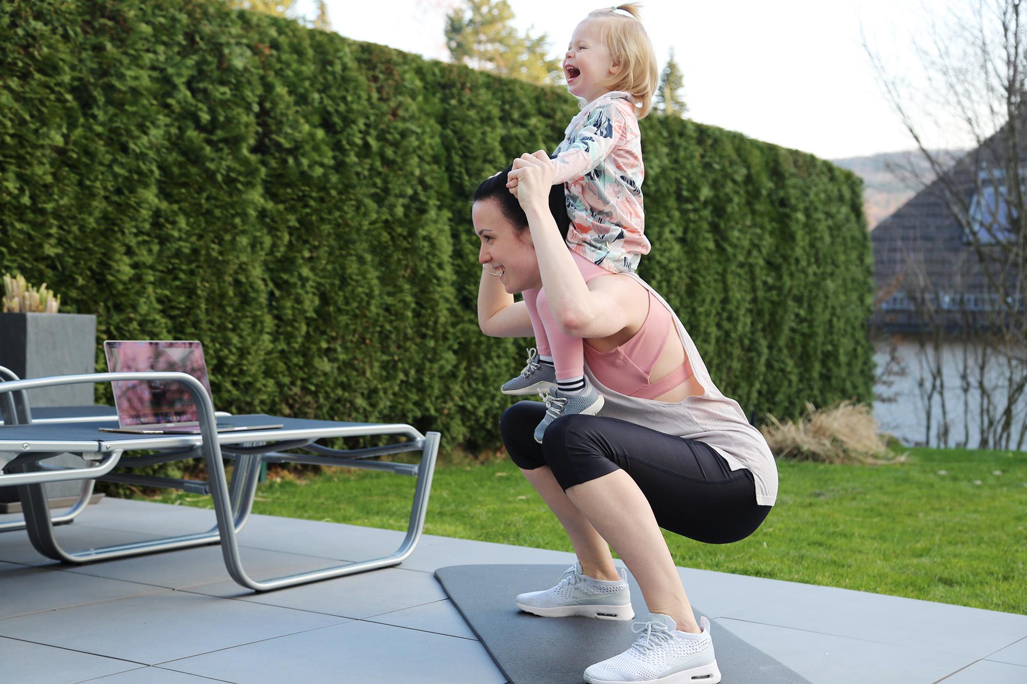 Training mit Kind